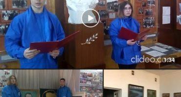 Студенты Витебского государственного университета читают воспоминания о П.М. Машерове